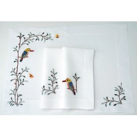 Small hemstitch with birds